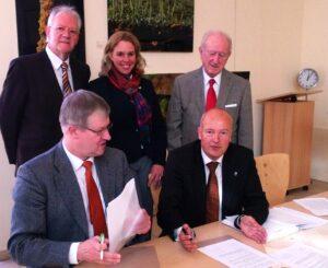 Unterschrift AccuMeda neuer Pächter des Radonstollens Bad Kreuznach